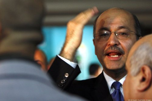Iraqi President, Barham Salih on 26 November 2008 in Baghdad [Ali Al-Saadi- Pool/Getty Images]