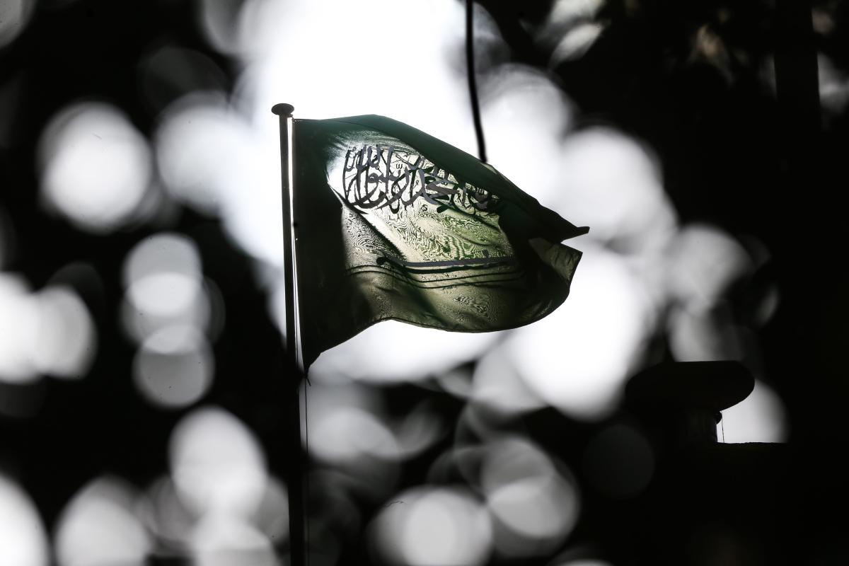 Flag of Saudi Arabia waves in front of the Saudi consulate as the waiting continues on the investigation of killing of Saudi journalist Jamal Khashoggi in Istanbul, Turkey on 6 November, 2018 [Elif Öztürk/Anadolu Agency]