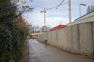 'Malcolm X Avenue' where the new US embassy is being built is seen in Ankara, Turkey on November 29, 2018. ( Aytaç Ünal - Anadolu Agency )
