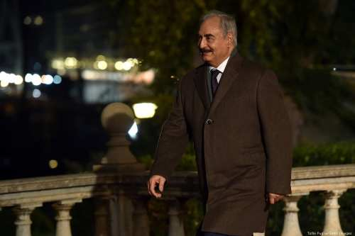 General Khalifa Haftar attends the Conference for Libya in Italy on 12 November 2018 [Tullio Puglia/Getty Images]