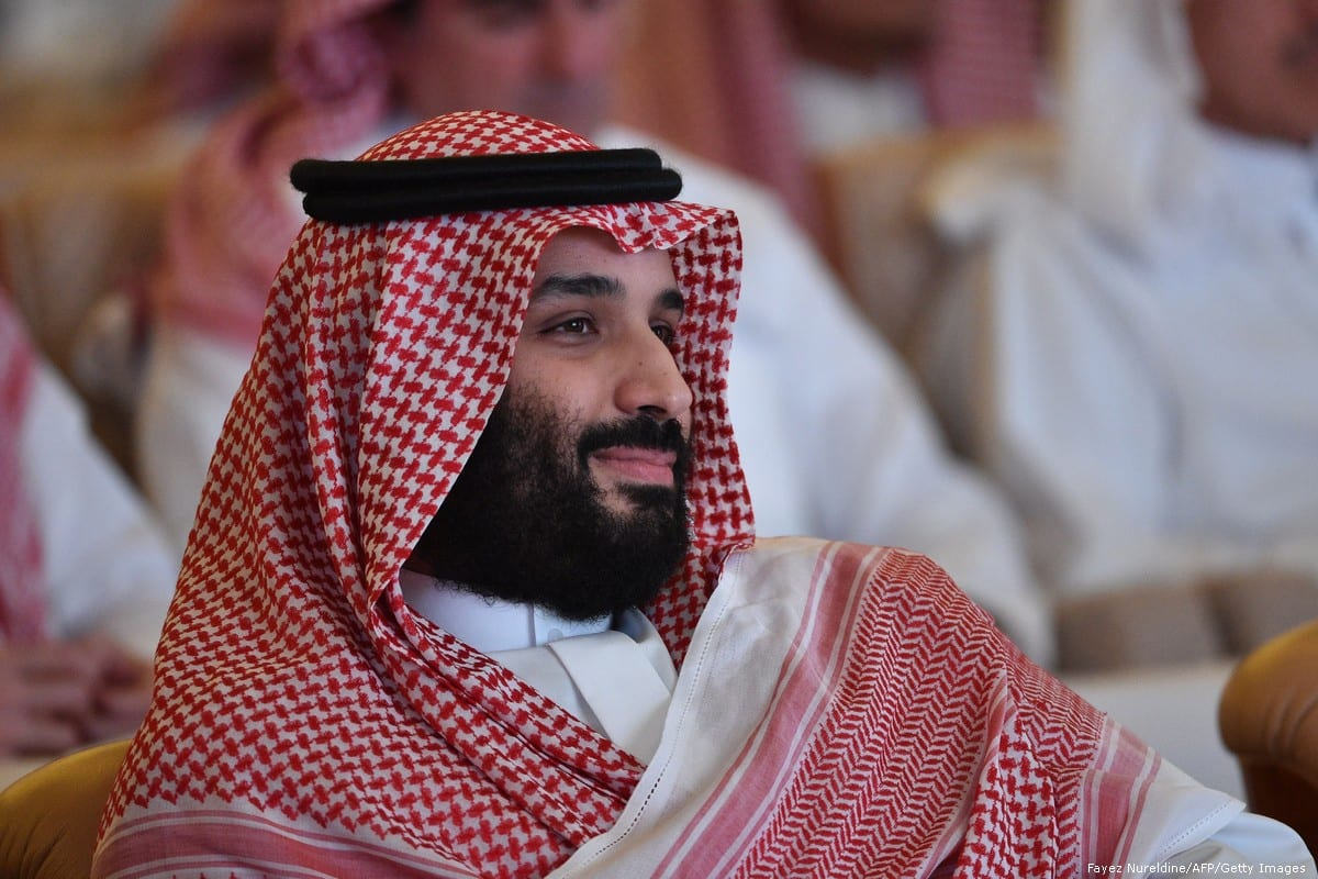Saudi Crown Prince Mohammed bin Salman in, Riyadh, Saudi Arabia on 23 October 2018 [Fayez Nureldine/AFP/Getty Images]