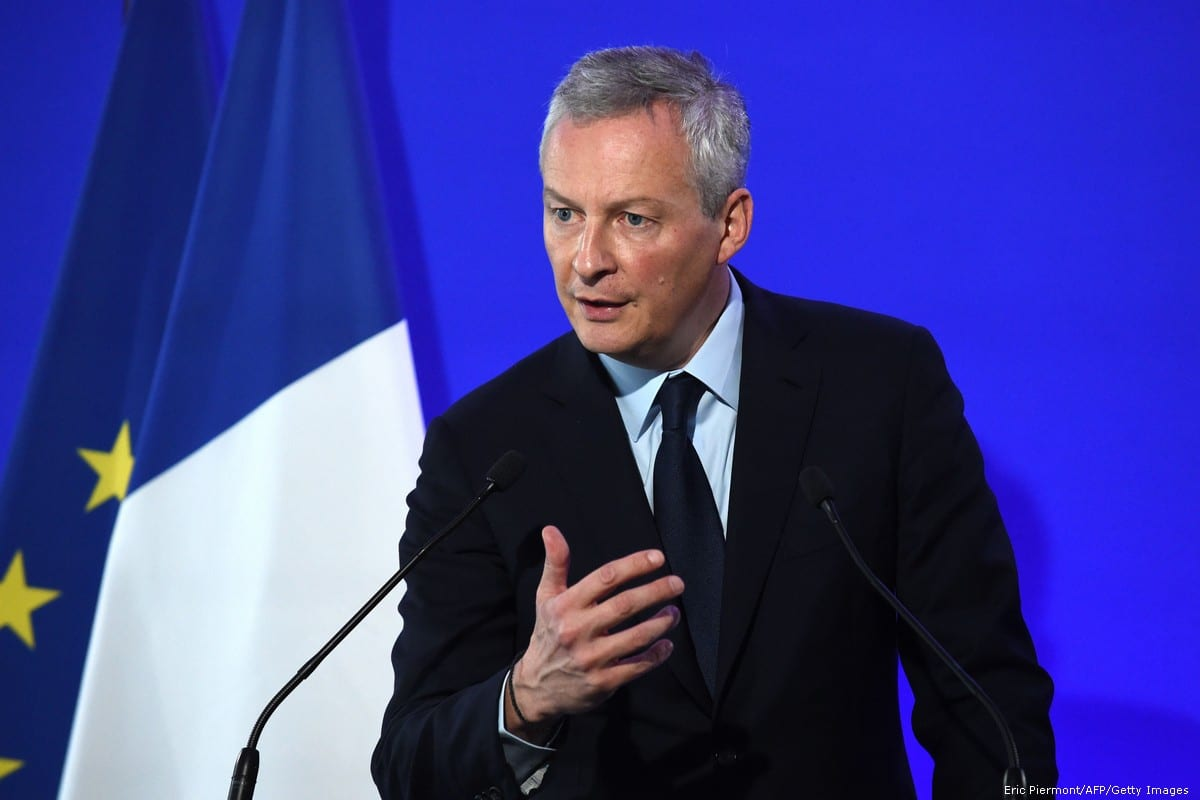 French Economy and Finance Minister Bruno Le Maire addresses journalists in Paris, France on 31 October 2018 [Eric Piermont/AFP/Getty Images]