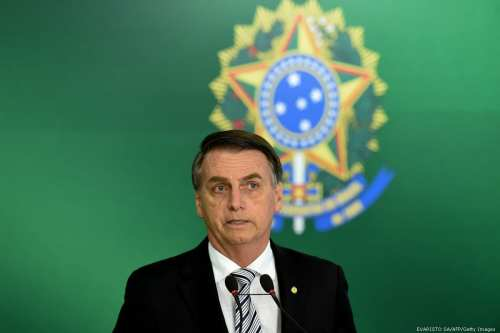 Brazilian president-elect Jair Bolsonaro in Brasilia, Brazil on 7 November 2018 [EVARISTO SA/AFP/Getty Images]