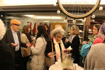 Participants attend the Palestine Book Awards pre-launch event on 15 November 2018 [Abdelrahman Said/Middle East Monitor]