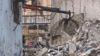 Israeli forces are launching demolitions for 16 commercial shops in the Shuafat camp in occupied Jerusalem [WafaNews]