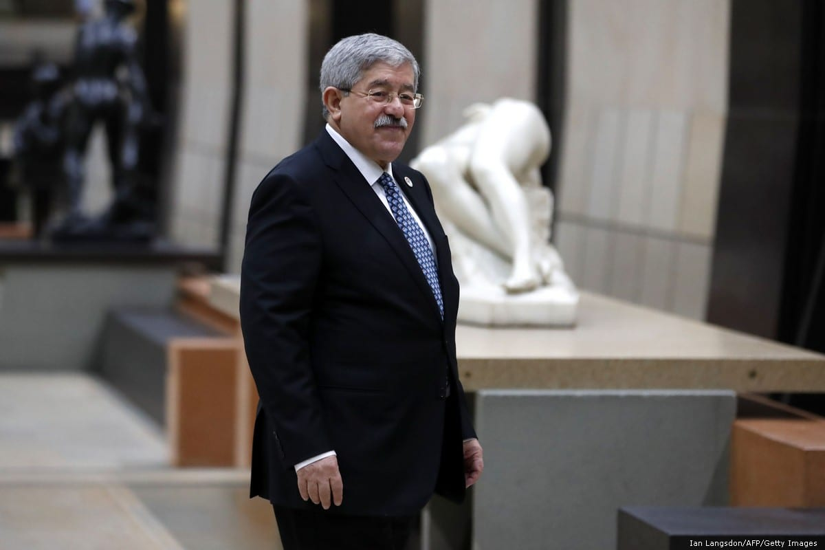 Algerian Prime Minister Ahmed Ouyahia in Paris, France, on 10 November 2018 [Ian Langsdon/AFP/Getty Images]