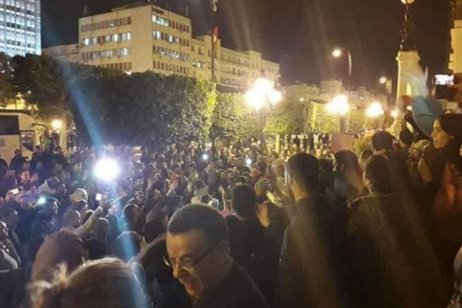 Hundreds of Tunisians took to the streets of Tunis last night to protest against the state visit of Saudi Crown Prince Mohammad Bin Salman [Twitter]