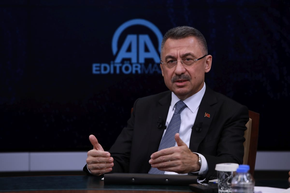 Turkish Vice President Fuat Oktay on November 05, 2018. [Binnur Ege Gürün - Anadolu Agency]