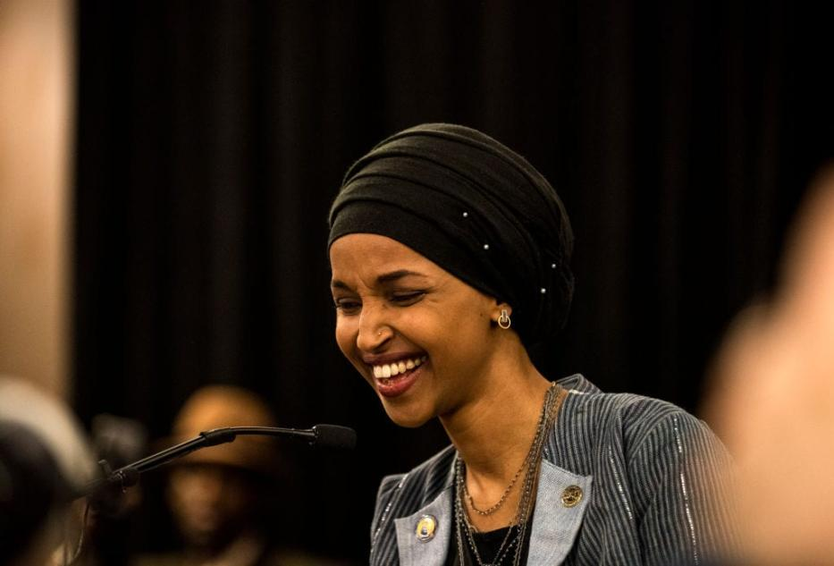 Minnesota Democratic Congressional-elect Ilhan Omar speaks at an election night results party on November 6, 2018 in Minneapolis, Minnesota. (Photo by Stephen Maturen/Getty Images