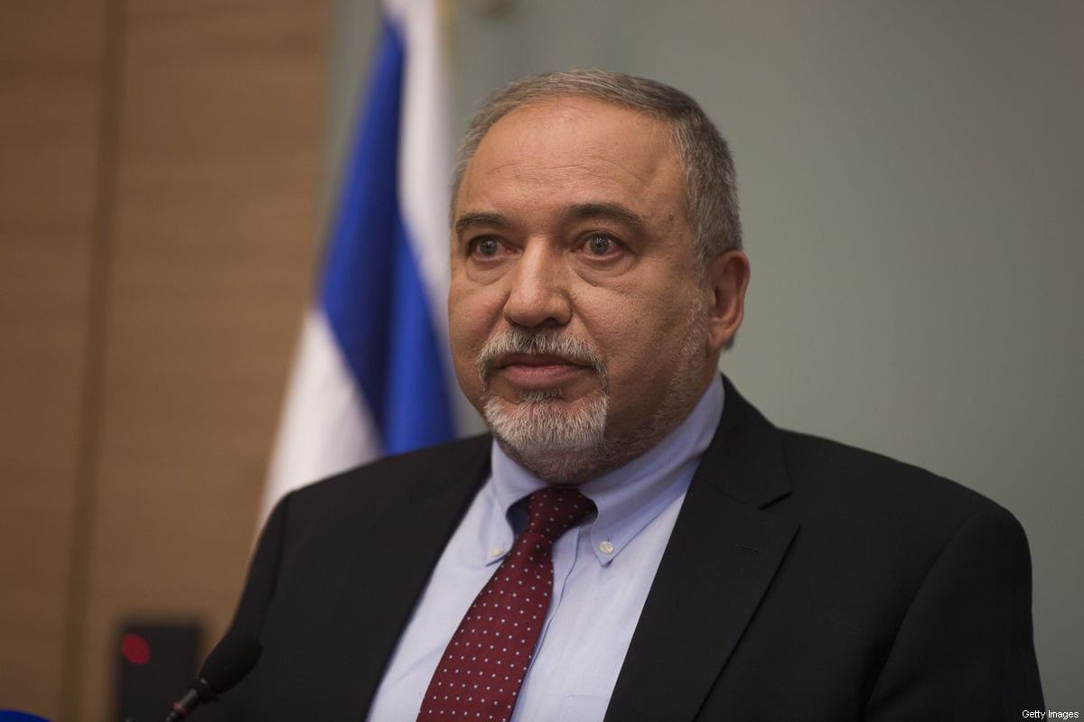 Israeli Defense Minister Avigdor Lieberman speaks during a press conference at the Israeli Parliament on November 14, 2018 in Jerusalem, Israel [Lior Mizrahi/Getty Images]