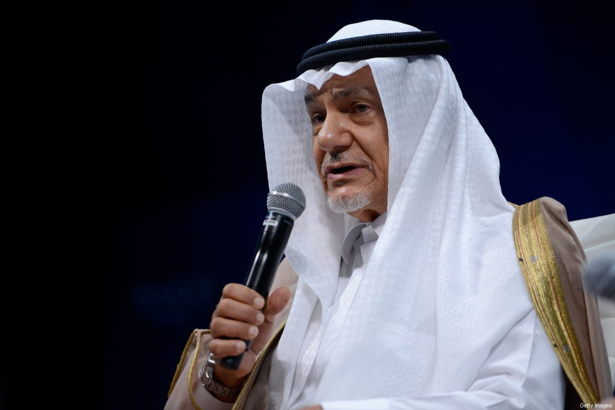 Former Saudi ambassador to the United States, Prince Turki Al Faisal on 2 October 2015 [Leigh Vogel/Getty Images for Concordia Summit]
