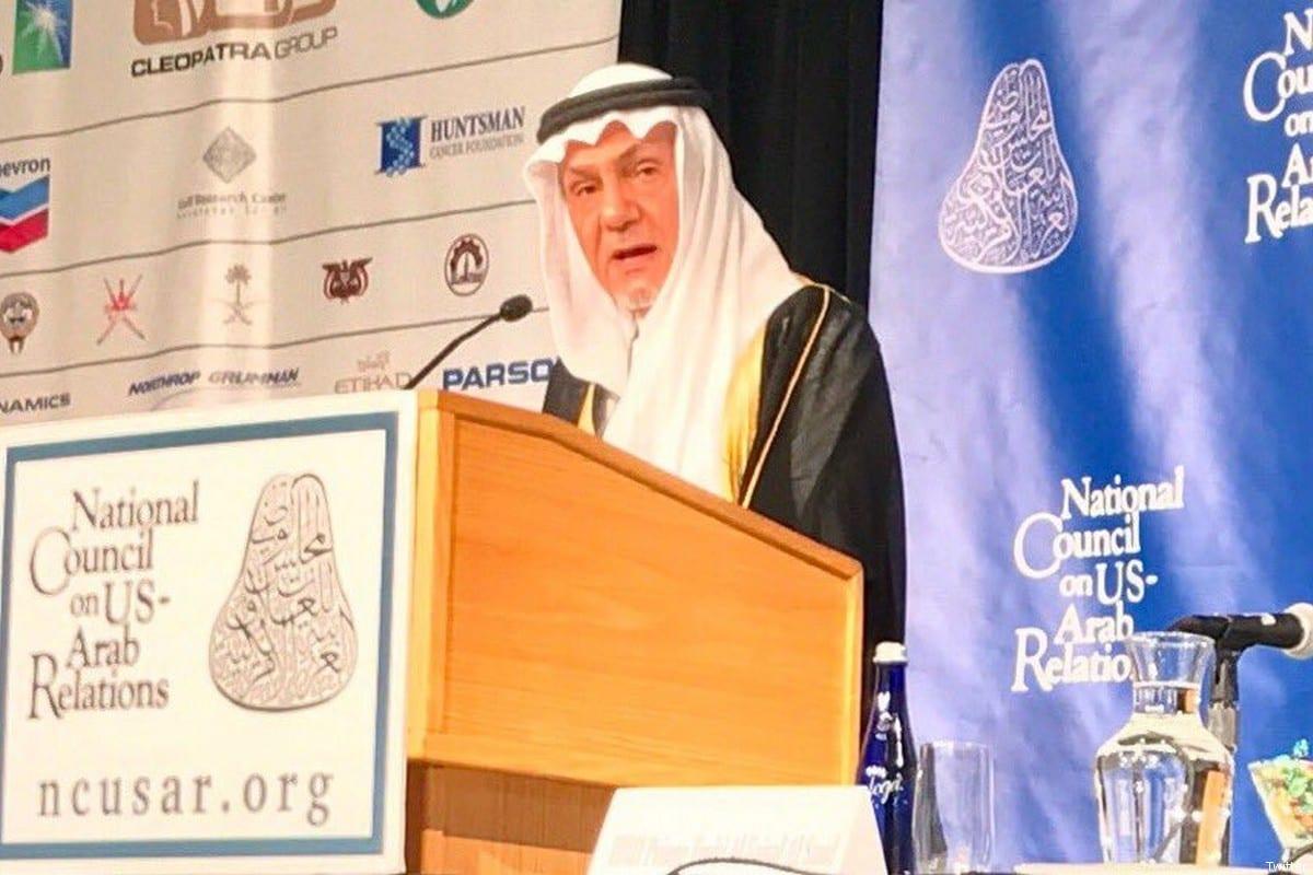 Former Saudi ambassador to the United States, Prince Turki Al Faisal on 10 December 2017 [Twitter]