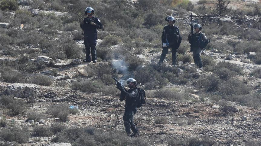 Dozens of students and teachers were affected by teargas canisters fired by Israeli soldiers.