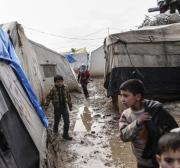 3,500 Syria, Iraq refugees displaced again after rain wipes out their tents
