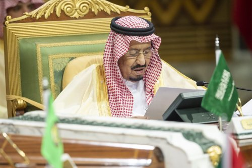 King of Saudi Arabia, Salman bin Abdulaziz Al Saud makes a speech during the 39th Gulf Cooperation Council (GCC) Summit in Riyadh, Saudi Arabia on December 09, 2018. [Bandar Algaloud/Saudi Kingdom Council/Handout/Anadolu Agency]