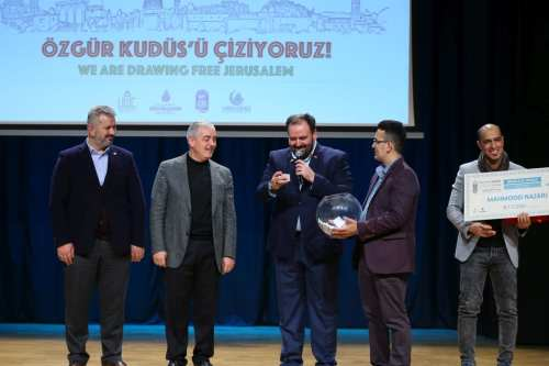 Iran, Turkey and India win international cartoon contest in Turkey, on 9 Dec 2018 - (Emrah Yorulmaz - Anadolu Agency)