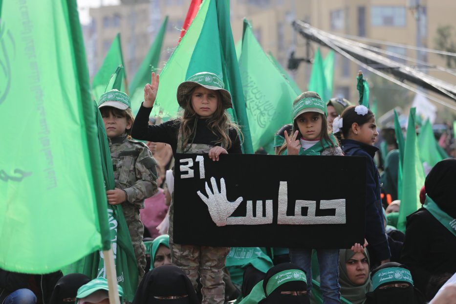 Hamas celebrate their 31st anniversary on 17 December 2018 [Mohammed Asad/Middle East Monitor]