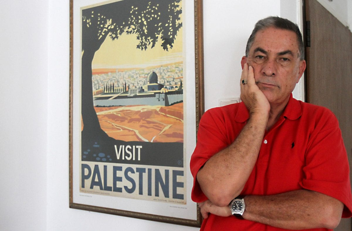 Journalist at Israel's Haaretz newspaper, Gideon Levy poses in his home on August 12, 2014 in the coastal Israeli city of Tel Aviv. [GIL COHEN MAGEN/AFP/Getty Images]