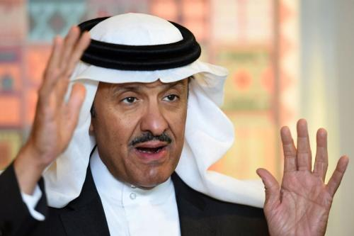 Head of the Saudi Commission for Tourism and National Heritage, Prince Sultan bin Salman bin Abdulaziz, speaks during an interview with AFP at the commission's headquarters in Riyadh, on 18 December, 2017 [Fayez Nureldine/AFP/Getty Images]