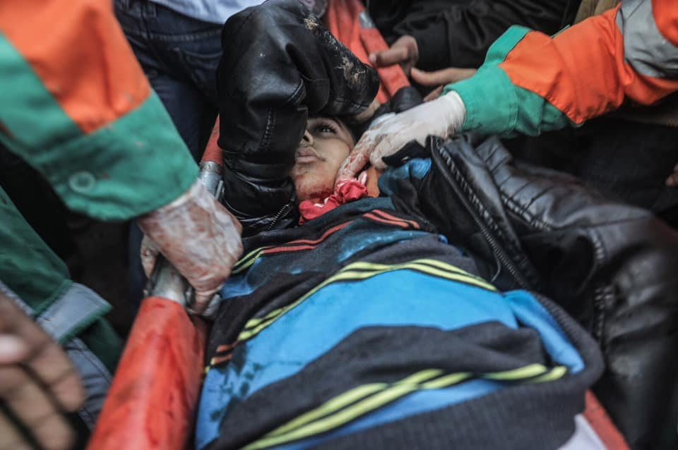Israeli forces shoot dead 16-year-old Mohamed Mouin al-Jahjouh in Gaza, on 21 December 2018. (Ali Gadallah - Quds Network)