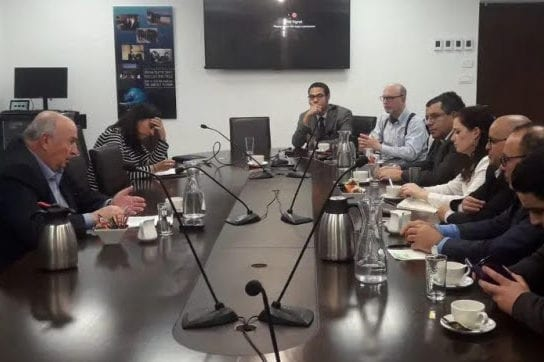 Arab journalists join an Israeli embassy tour of the Knesset [Israeli Knesset]