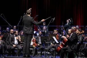 Tunisian Symphony Orchestra performs during the first concert of 2019 in Tunisia on 1 January 2019 [Nacer Talel/Anadolu Agency]