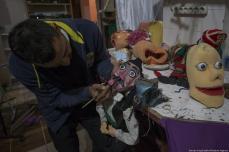 Turkish craftsman Adam Ogatqan creates puppets based on characters from the Ottoman era in Turkey on 4 January 2019 [Sercan Küçükşahin/Anadolu Agency]