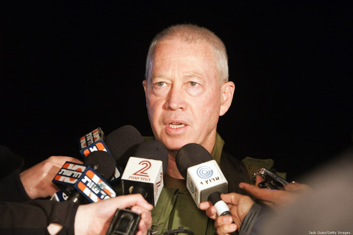 Israeli Officer General Yoav Gallant, chief of the south command, holds a press conference near the border with the Gaza Strip on 26 March 2010 [Jack Guez/AFP/Getty Images]