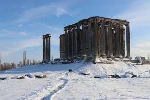 A view of Aizanoi Ancient City during winterin Turkey on 9 January 2019 [Muharrem Cin/Anadolu Agency]