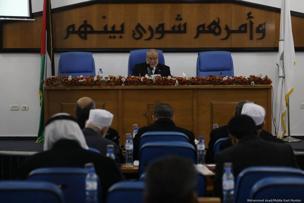 The Palestinian Legislative Council in session on 9 January 2018 [Mohammed Asad/Middle East Monitor]