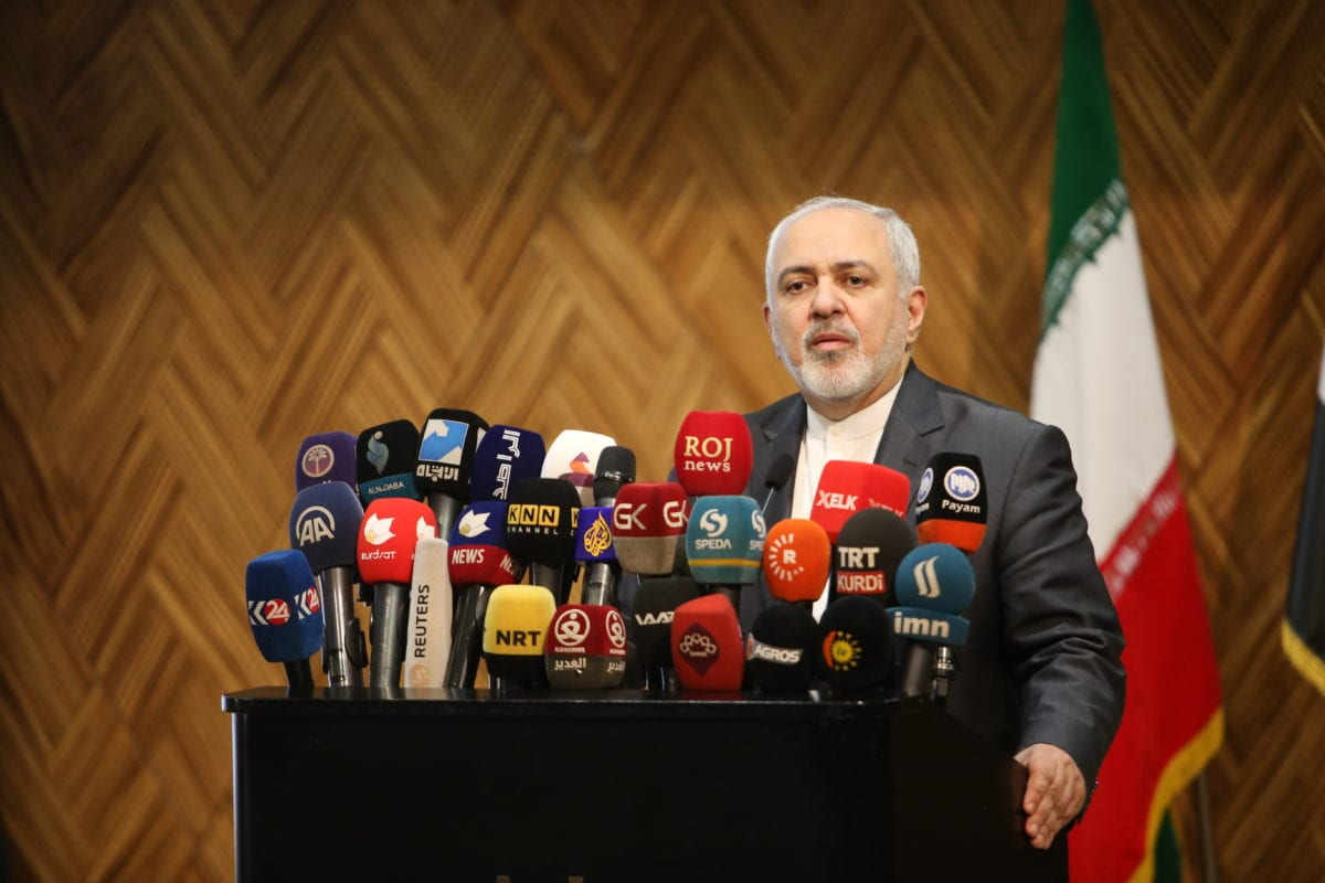 Iranian Foreign Minister Javad Zarif in Sulaymaniyah, Iraq on 15 January 2019 [Feriq Fereç/Anadolu Agency]