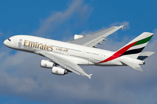 Airbus A380 from Emirates Airlines [Wikipedia]
