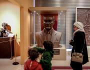 A bust of Mustafa Kemal Ataturk, founder of Turkish Republic, is seen at Chocolate Museum, which opened its doors in 2013 and takes its visitors on an adventure starting with the history of chocolate-making, in Istanbul, Turkey on January 07, 2019. ( Ahmet Bolat - Anadolu Agency )