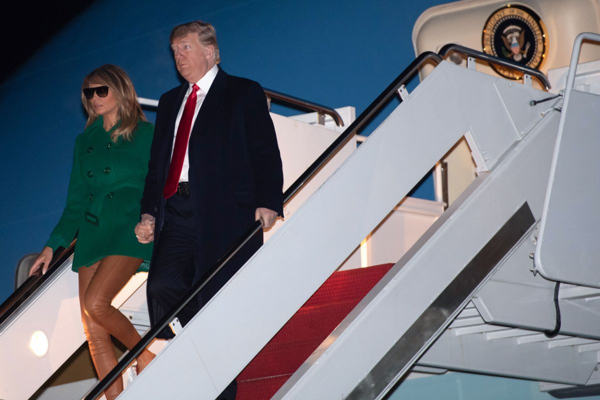 US President Donald Trump and First Lady Melania Trump in Maryland, US on 27 December 2018 [SAUL LOEB/AFP/Getty Images]