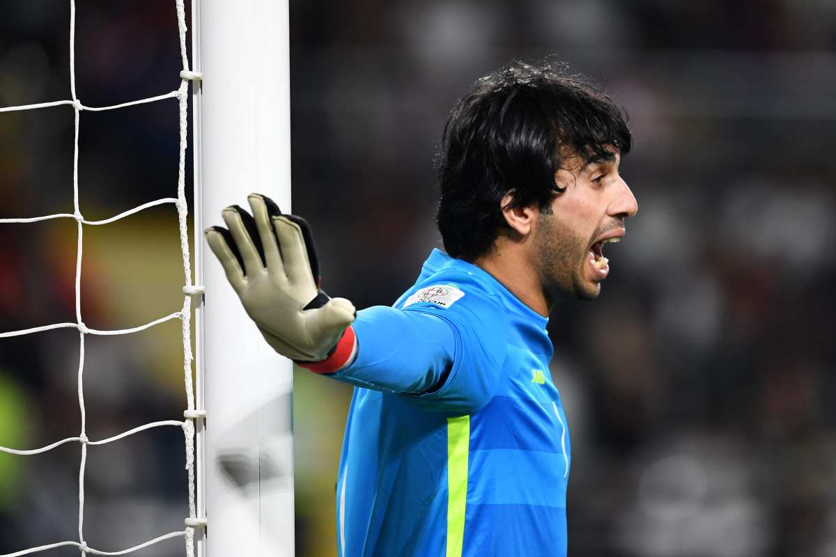 Jalal Hassan Hachim of Iraq gestures during the AFC Asian Cup between Qatar and Iraq at Al Nahyan Stadium on 22 January 2019 in Abu Dhabi, UAE [Etsuo Hara/Getty Images]