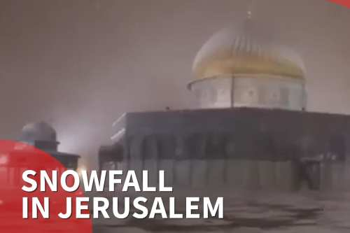Snowfall in Jerusalem [Middle East Monitor]