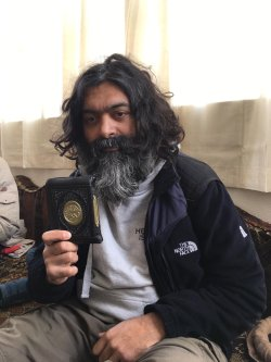 British aid worker Muhammad Shakiel Shabir, seen after being rescued from his kidnappers by HTS rebels, in Idlib Syria on January 11, 2018