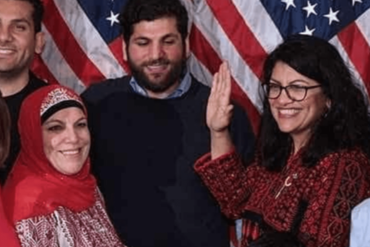 Congresswoman Rashida Tlaib wears Palestinian thobe to swearing in ceremony [Instagram]