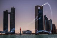 Martin Sonka of the Czech Republic performs during a training session at the first round of the Red Bull Air Race World Championship in Abu Dhabi on 6 February 2019 [Predrag Vuckovic/Getty Images]