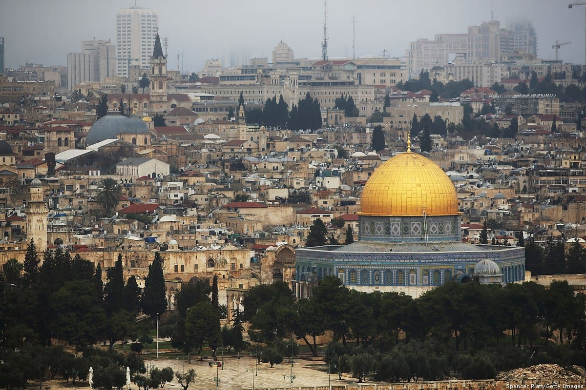 The Dome of the Rock is viewed at the Al-Aqsa mosque compound in the Old City on 27 November 2014 in Jerusalem [Spencer Platt/Getty Images]