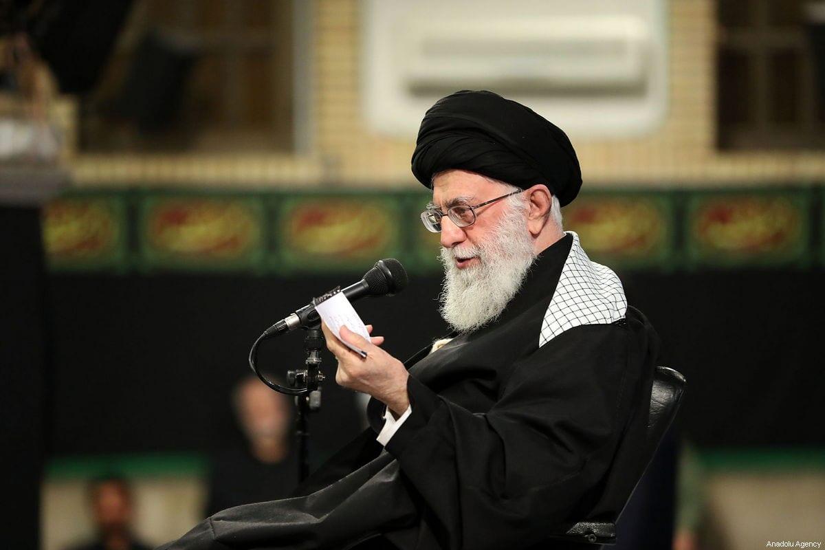 Supreme Leader of Iran, Ali Khamenei speaks during a conference in Tehran, Iran on 8 February 2019 [Iran's Religious Leader Press/Anadolu Agency]