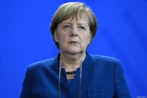German Chancellor Angela Merkel makes a speech during the joint press conference on 8 February, 2019 [Abdülhamid Hoşbaş/Anadolu Agency]