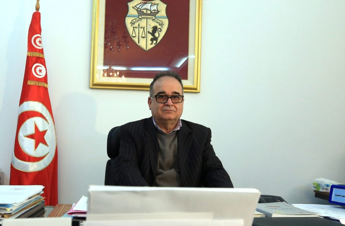 Tunisian Minister of Social Affairs Mohamed Trabelsi [Yassine Gaidi - Anadolu Agency]