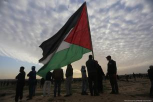 Palestinians during the Great March of Return on 2 February 2019 [Mohammed Asad/Middle East Monitor]Palestinians during the Great March of Return on 2 February 2019 [Mohammed Asad/Middle East Monitor]