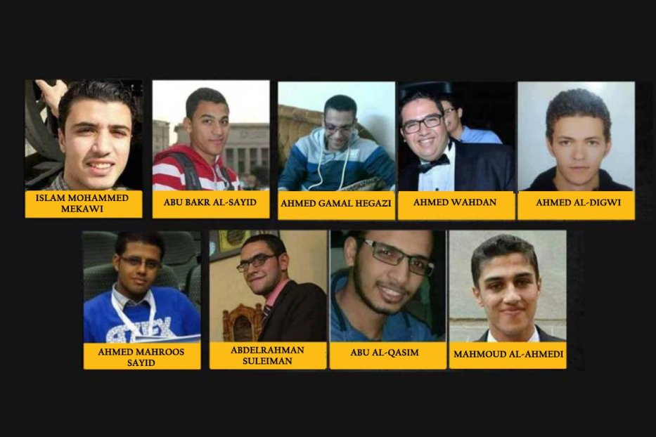 Names and photos of the 9 Egyptian prisoners executed by Egypt [Twitter]