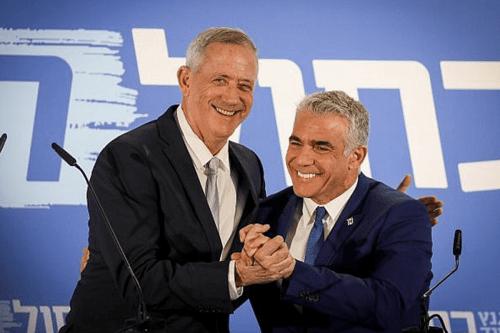 Likud falls behind in first polls after Gantz-Lapid merger