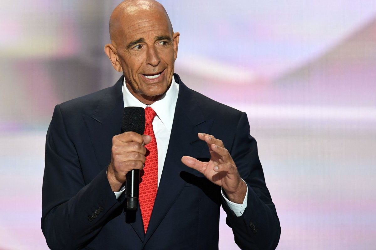CEO of Colony Capital Tom Barrack speaks on the last day of the Republican National Convention on 21 July 21, in Cleveland, Ohio. [Jim Watson/AFP/Getty Images]