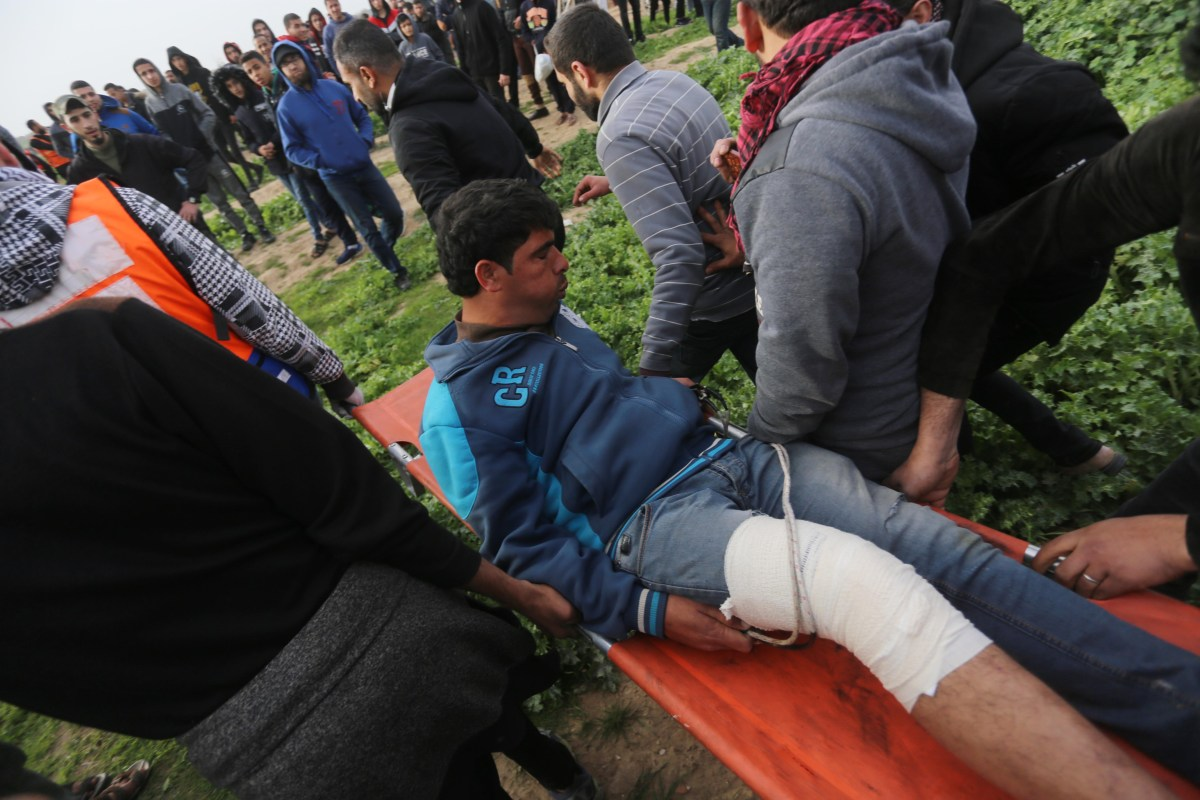 Israel yesterday attacked participants in the Friday protests taking place in the Gaza Strip [Mohammed Asad/Middle East Monitor]