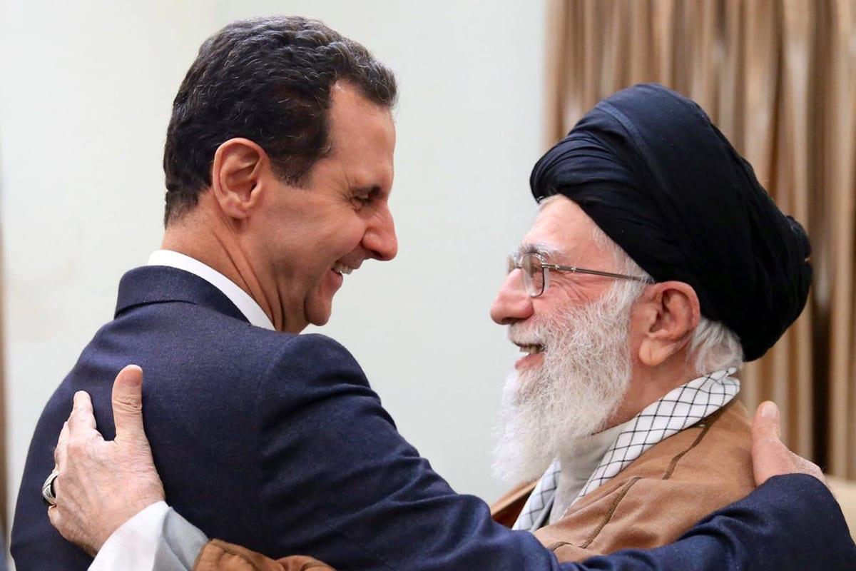 Syrian President Bashar Al-Assad (L) and Supreme Leader Ayatollah Ali Khamenei in Tehran, Iran on 25 February 2019 [Yousef Alhelou/Twitter]