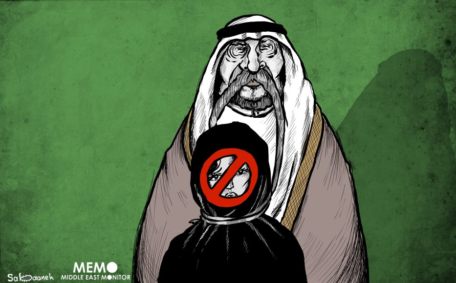Is it the end of guardianship in Saudi Arabia? - Cartoon [Mohammad Sabaaneh/Middle East Monitor]
